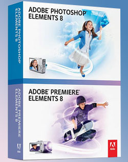 Коробочная версия пакетов Photoshop Elements и Premiere Elements восьмого поколения.