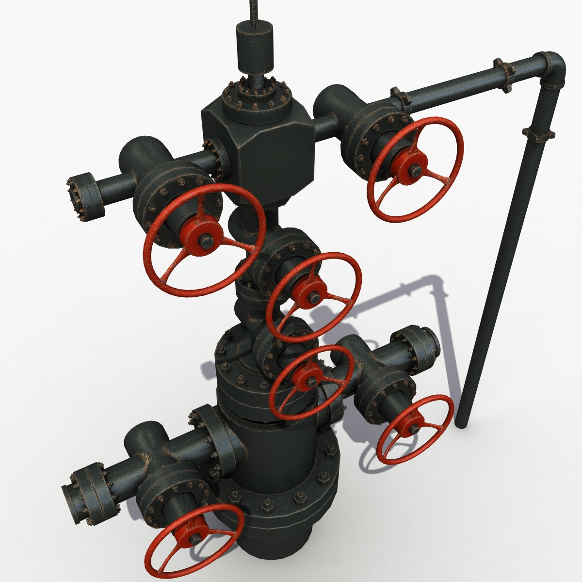 3D Model Oilfield Wellhead